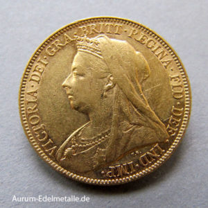 One Pound Sovereign Victoria 1893-1901