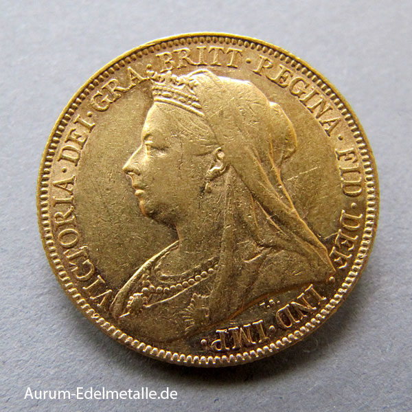 One Pound Sovereign Victoria 1893-1901