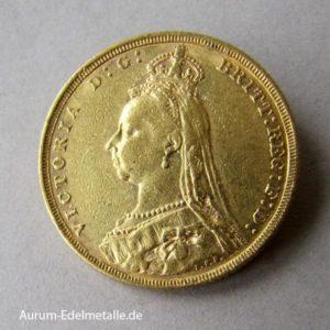 England One Pound Sovereign Victoria Gold Krone