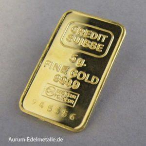 Goldbarren 5g Feingold