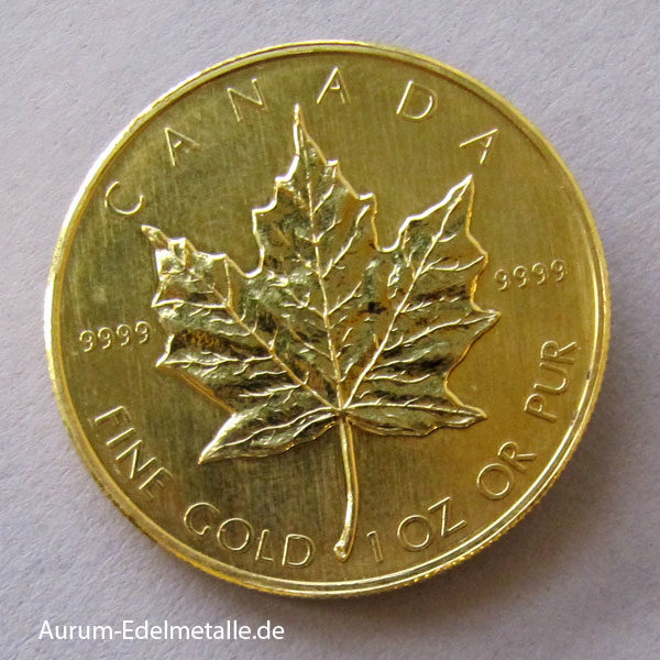 Kanada Maple Leaf 1 Oz Feingold 9999