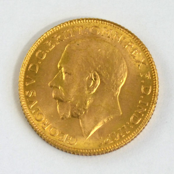 One Pound Sovereign-King-George V