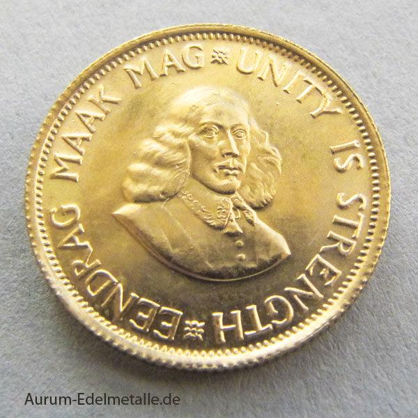 Südafrika 2 Rand Goldmünze