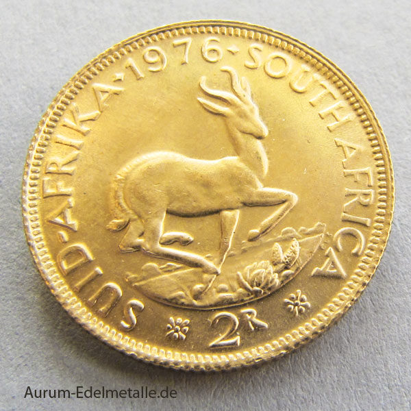 Sued Afrika 2 Rand Goldmünze