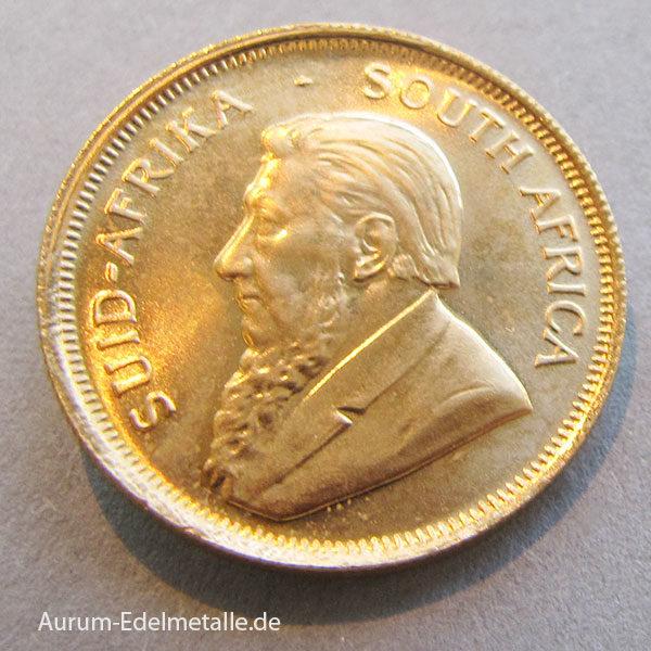Süd Afrika Krugerrand 1_4oz Feingold Anlagemünze