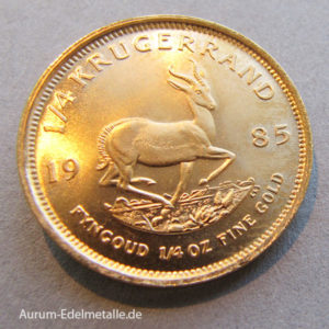 Südafrika Krugerrand 1_4oz Feingold Anlagemünze