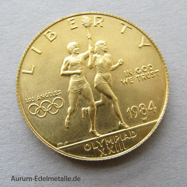 USA 10 Dollars Gold 1984 Olympiade