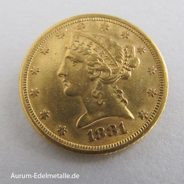 Liberty Head 5 Dollars 1795-1908