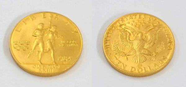 USA 10 $ Dollars Gold 1984 Olympiade