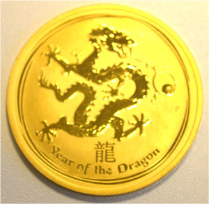 Australien Lunar Year of the Dragon 1oz Feingold 9999