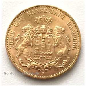 Deutsches Reich 20 Gold Mark 1913