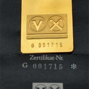 Goldbarren 1oz 31_1g Feingold 9999 Volks und Raiffeisenbank