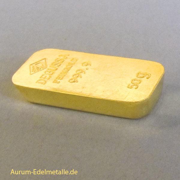 Resale Goldbarren 50 g Gussbarren Sargform Kastenbarren Diverse Hersteller