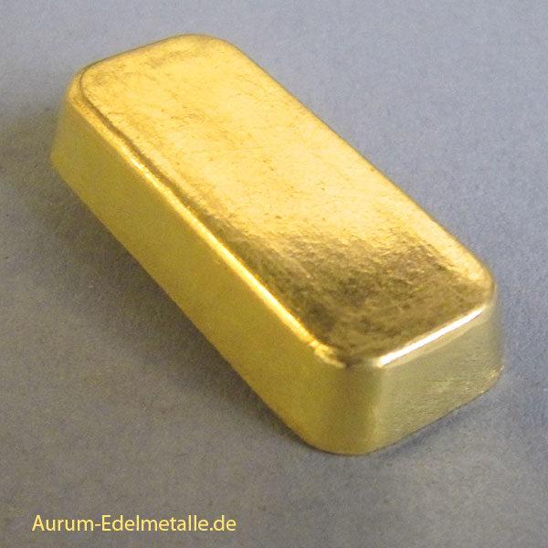 Goldbarren 50g Feingold 9999 Degussa-kastenbarren