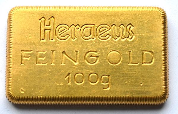 Heraeus-Barren-100-Gramm