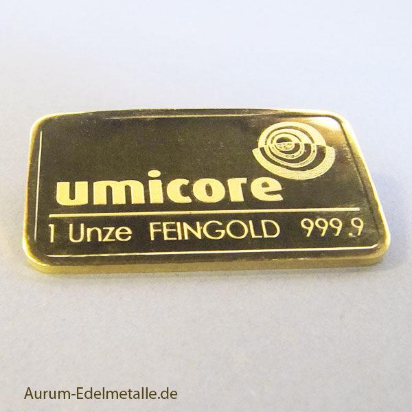 Goldbarren-1oz-Feingold-9999-Umicore-1-unze