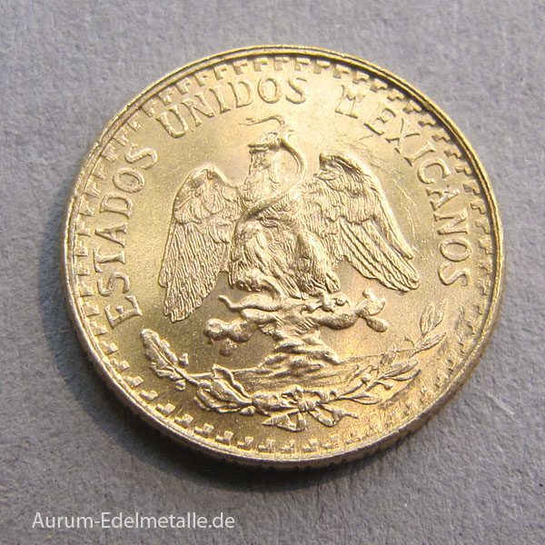 Mexiko Dos Pesos 1/5 Hidalgo Goldmünze 1945