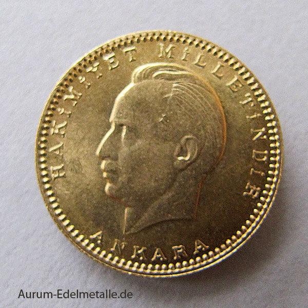 100 Piaster Goldmünze Türkei Atatürk