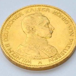 Deutsches Reich 20 Mark Gold 1913 Kaiser Wilhelm II König von Preussen