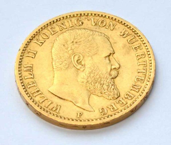 Goldmünze Wilhelm II Württemberg 20 Mark