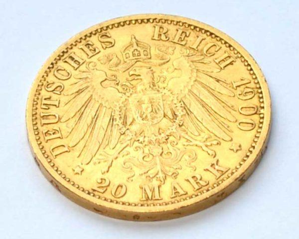 20-Reichsmark-Koenig-v.Würtemberg, Deutscher Kaiser