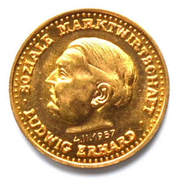 Deutschland Der Goldene Ludwig Heraeus Gold 900_1000 Sammlerstück