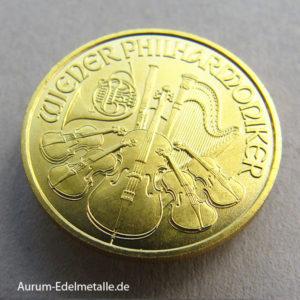 Österreich Wiener Philharmoniker Gold 10 Euro
