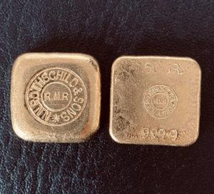 Rothschild Goldbarren 50 Gramm Feingold 999.9
