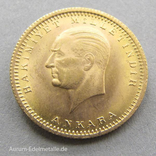 Türkei 100 Piaster Goldmünze Atatürk Gedenkmünze 1923