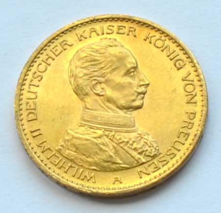 Deutsches Reich 20 Gold Mark 1914 Kaiser Wilhelm II