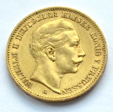 Deutsches Reich 20 Mark Gold 1900 Kaiser Wilhelm Ii Aurum
