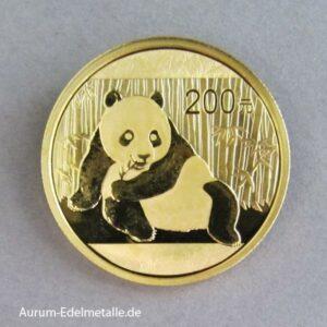 China Panda 200 Yuan ½ oz 2015