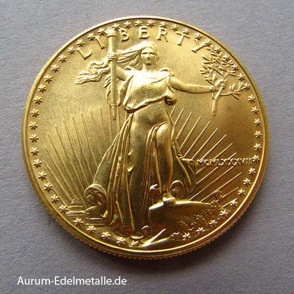 USA American Eagle 50 Dollars Goldmünze 1 OZ