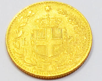 Italien 20 Lire Umberto Re D´italia Goldmuenze