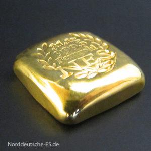 goldbarren-1Unze Feingold 999,9 gegossen
