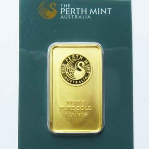 Goldbarren 1oz Feingold 9999 Australien Perth Mint