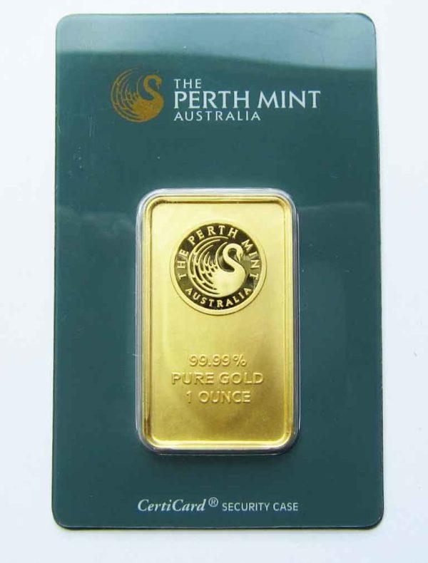 Goldbarren 1oz Feingold 9999 Australien Perth Mint