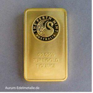 1 Unze Goldbarren Perth Mint