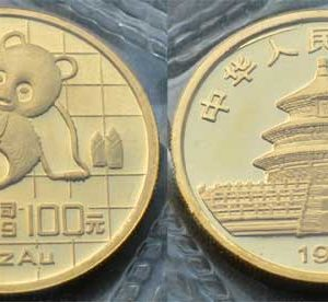 China Panda 100 Yuan 1 oz 1989 Feingold 999