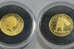 Cook Islands 20 Dollars 1_25oz Feingold 999 500 Years of America