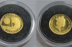 Cook Islands 20 Dollars 1_25oz Feingold 999 first man on the moon 1969