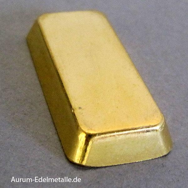 Goldbarren 20g Feingold 9999 historisch Degussa Sargform