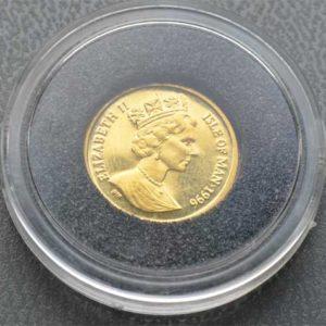 Isle Of Man 1_25 oz Gold Cat 1995 Feingold 9999