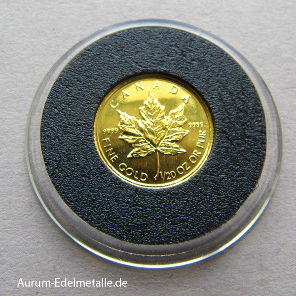 Kanada Maple Leaf 1_20 oz Feingold 9999 kleinste Maple Leaf