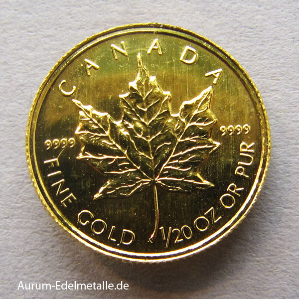 Kanada Maple Leaf 1_20 oz Feingold 9999