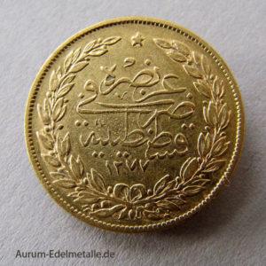Türkei 100 Piaster Goldmünze 1861-1876 Sultan Abdul Aziz