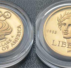USA 5 $ Dollar Gold Nike Olympiade 1988 - Sonderprägung