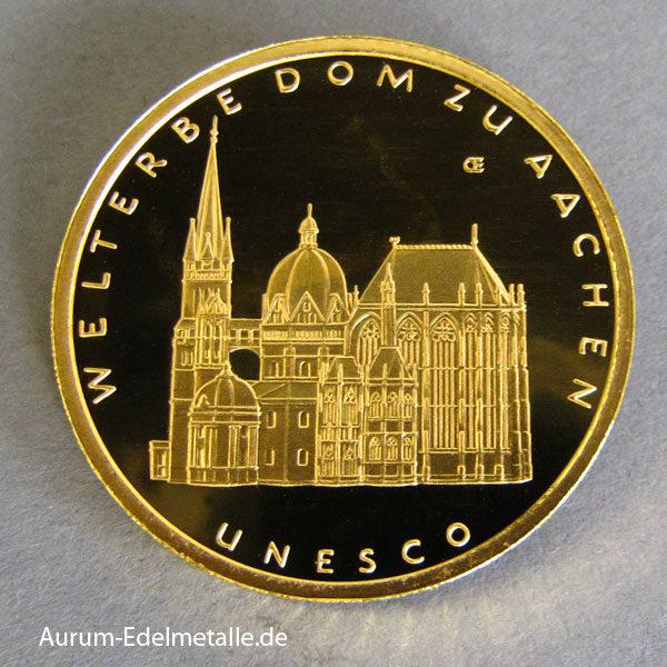 100 Euro UNESCO Welterbe Aachen Gold