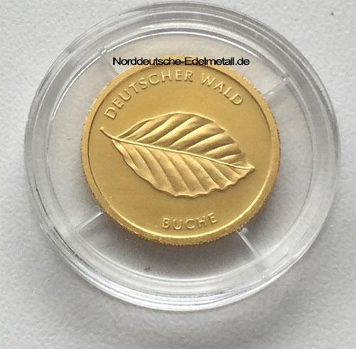 Deutschland 20 Euro Gold Buche Deutscher Wald