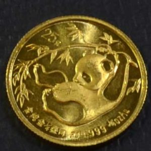 China Panda 1_4 oz Feingold 999 Bullion Anlagegold